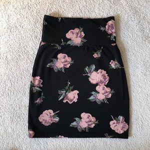 ARITZIA Floral Mini Skirt
